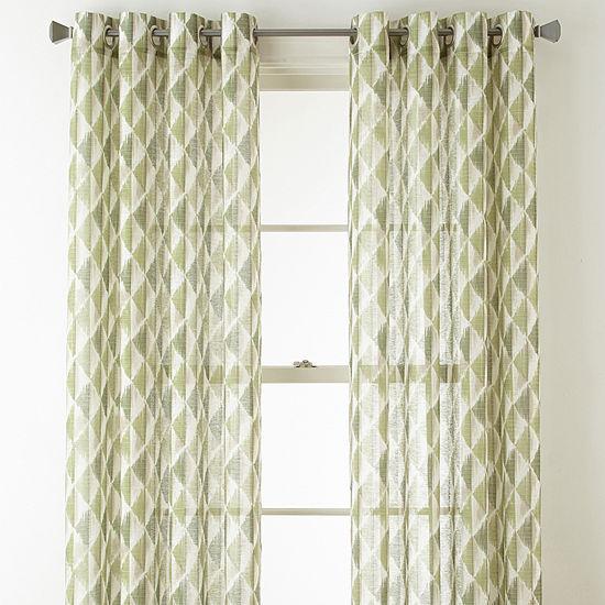 Studio Cooper Grommet-Top Sheer Curtain Panel