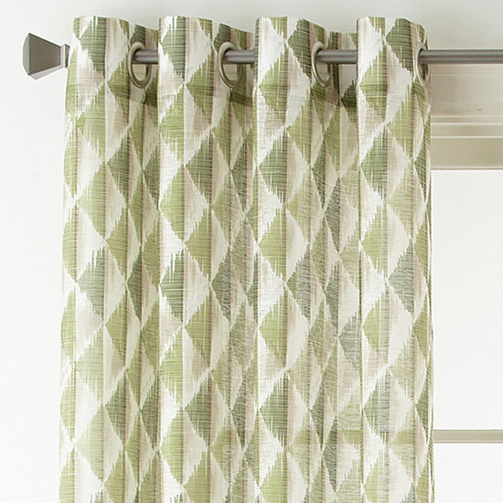 Studio Cooper Sheer Grommet-Top Single Curtain Panel