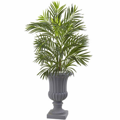 3.5' Areca Palm Tree With Gray Urn Uv Resistant