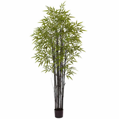 Black Bamboo Tree With 1470 Leaves Uv Resistant