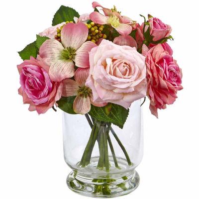 "10"" Rose And Berry Arrangement Floral Arrangement"