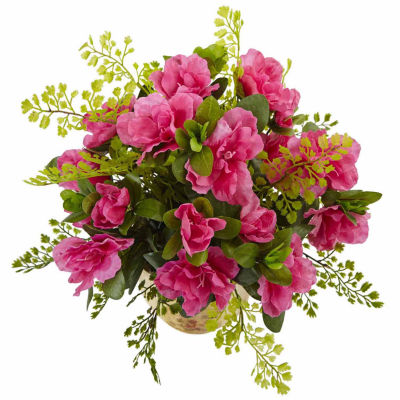 Azalea And Maiden Hair With Planter Floral Arrangement