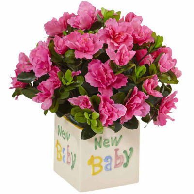 Azalea In New Baby Ceramic Floral Arrangement