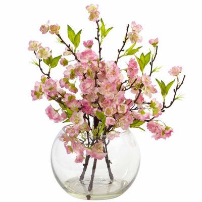 Cherry Blossom In Large Vase Floral Arrangement