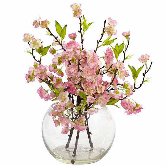 Cherry Blossom In Large Vase Floral Arrangement Jcpenney