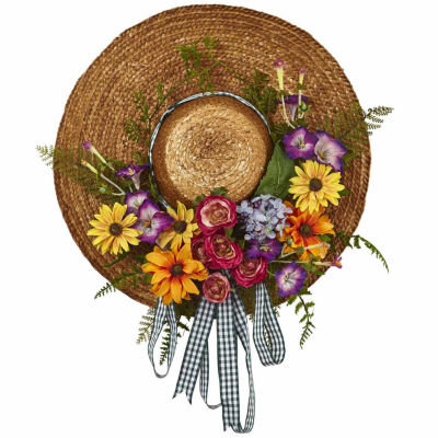Mixed Flower Hat Wreath