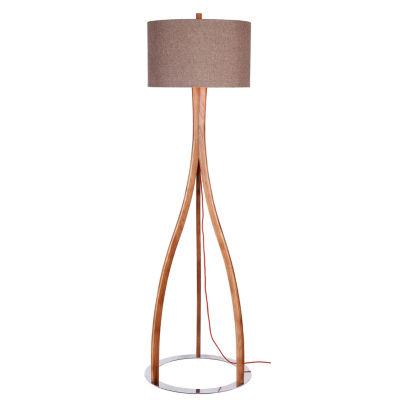 Catalina Preston Wood Floor Lamp