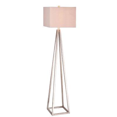 Catalina Ezra Antique Pewter Metal Floor Lamp