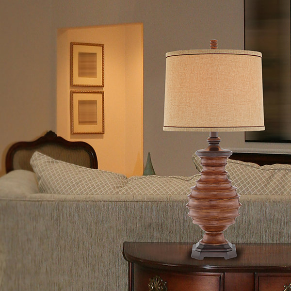 Catalina Forest Resin Table Lamp