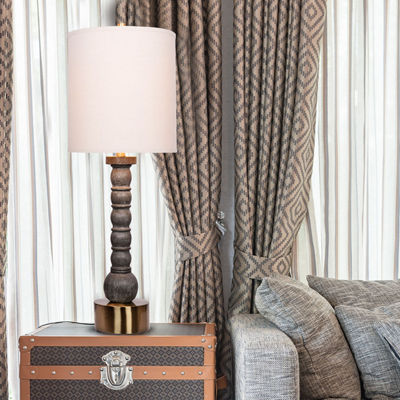 Catalina Grayson Resin Table Lamp