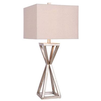 Catalina Ezra Antique Pewter Metal Table Lamp