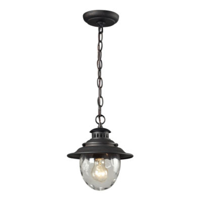 Searsport 1-Light Outdoor Pendant In Weathered Charcoal