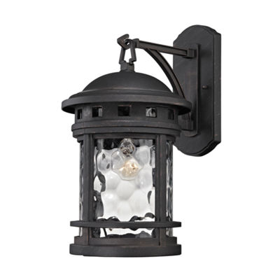 Costa Mesa 1-Light Outdoor Wall Sconce In Weathered Charcoal