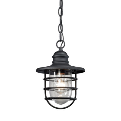 Vandon 1-Light Outdoor Wall Sconce In Charcoal