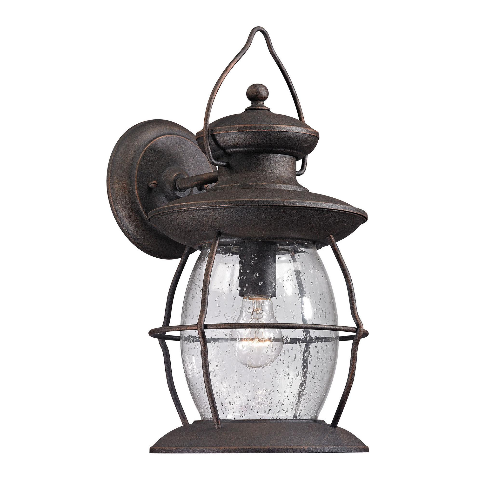 elk lighting village lantern outdoor sconce light