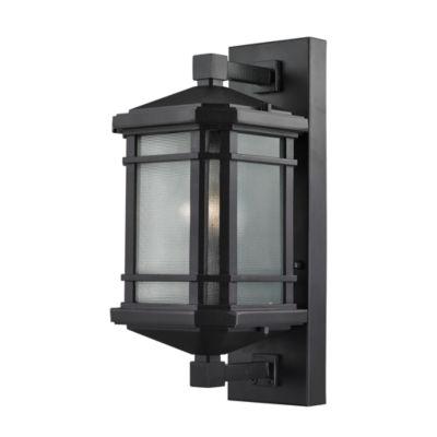 Lowell 1-Light Outdoor Sconce In Matte Black