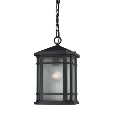 Lowell 1-Light Outdoor Pendant In Matte Black