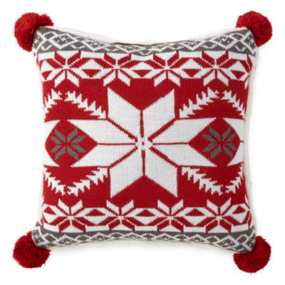 North Pole Trading Co. Fairisle Knit Throw Pillow