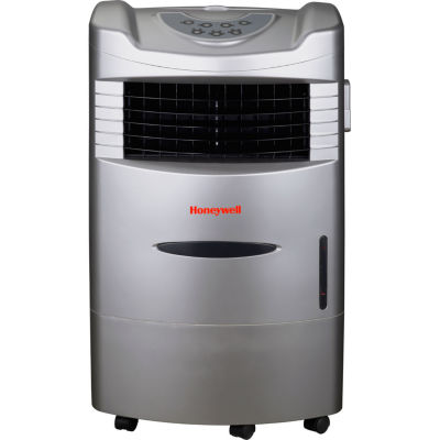 Honeywell 470 CFM Indoor Evaporative Air Cooler (Swamp Cooler) with Remote Control in Silver