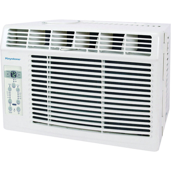 "Keystone 5000 BTU Window-Mounted Air Conditioner with ""Follow Me"" LCD Remote Control"""