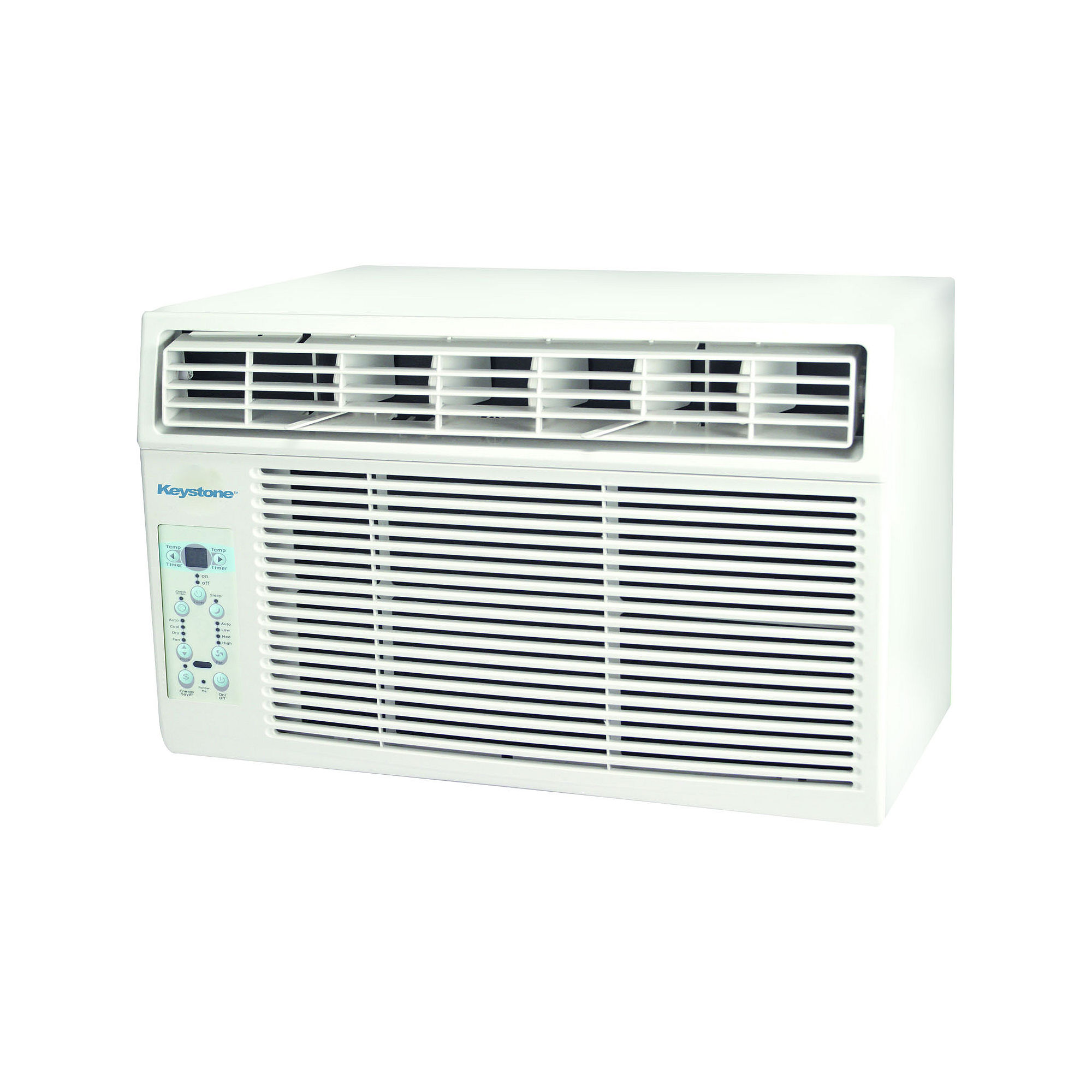 "Keystone 8000 BTU Window-Mounted Air Conditioner with ""Follow Me"" LCD Remote Control"""
