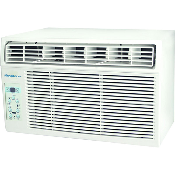 "Keystone 10000 BTU Window-Mounted Air Conditionerwith ""Follow Me"" LCD Remote Control"""