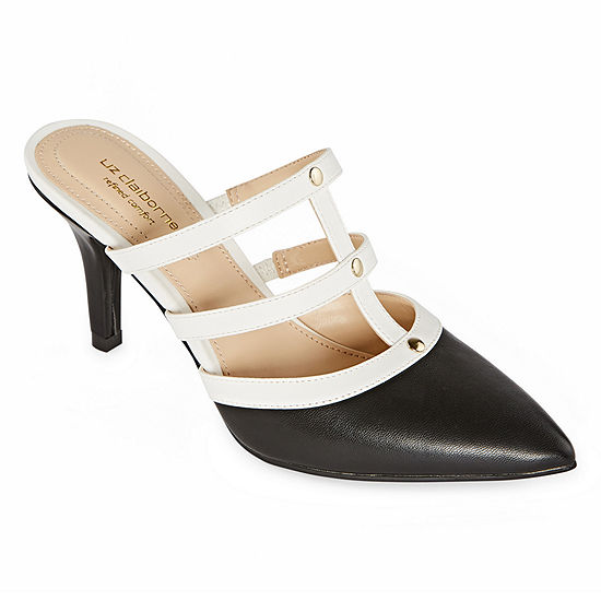 Liz Claiborne Womens Harpeth Pull-on Pointed Toe Spike Heel Pumps