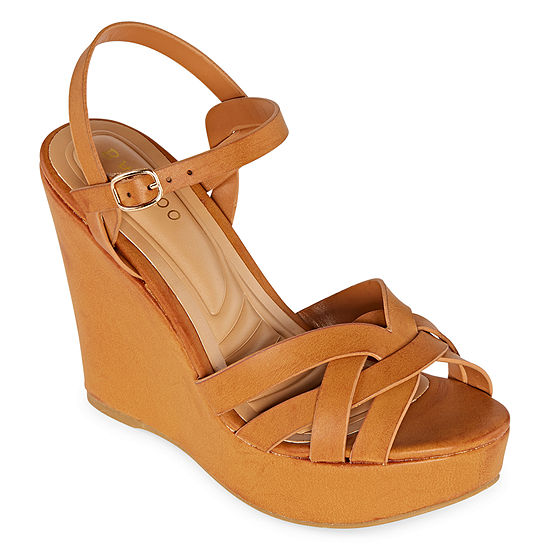 Bamboo Womens Celsius-32 Wedge Sandals