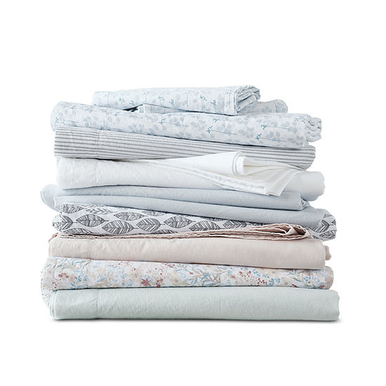 Linden Street Vintage Wash Cotton Sheet Set