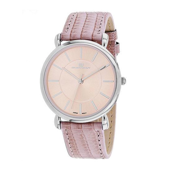 Oceanaut Womens Pink Leather Strap Watch-Oc2211