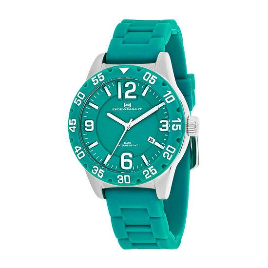Oceanaut Womens Green Strap Watch-Oc2813