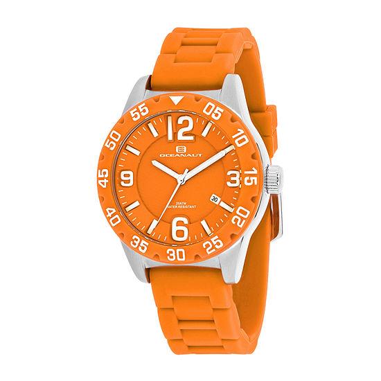 Oceanaut Womens Orange Strap Watch-Oc2814