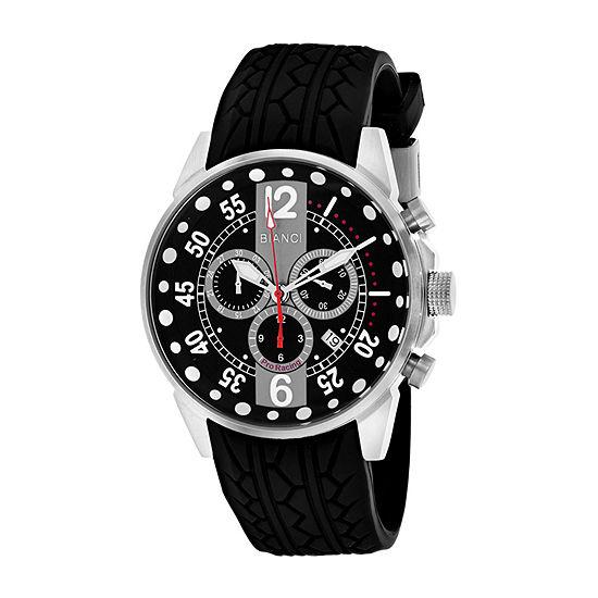 Roberto Bianci Mens Black Strap Watch-Rb70987