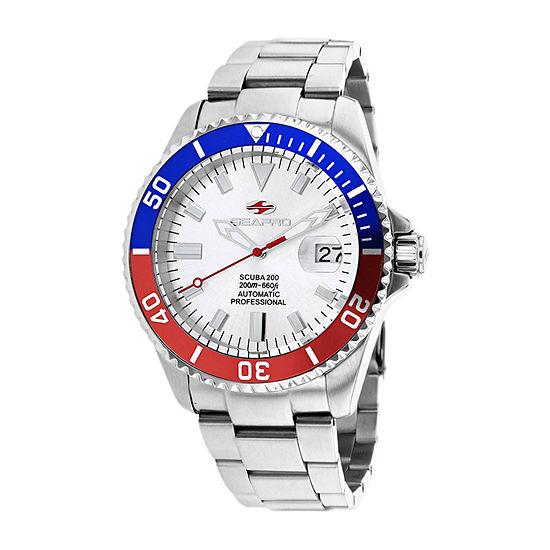Sea-Pro Mens Automatic Silver Tone Stainless Steel Bracelet Watch - Sp4320