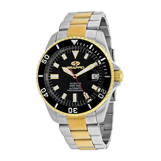 Sea-Pro Mens Automatic Silver Tone Stainless Steel Bracelet Watch - Sp4326