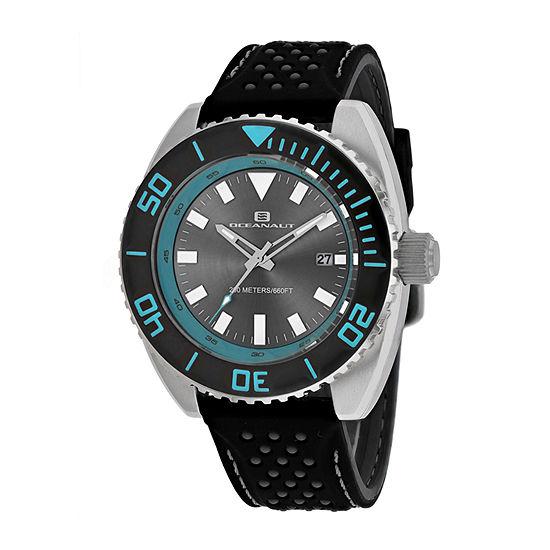 Oceanaut Mens Black Strap Watch-Oc0521