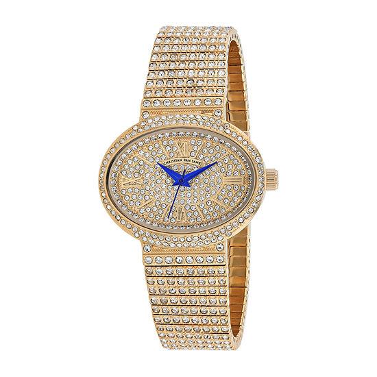 Christian Van Sant Womens Orange Stainless Steel Bracelet Watch - Cv0252