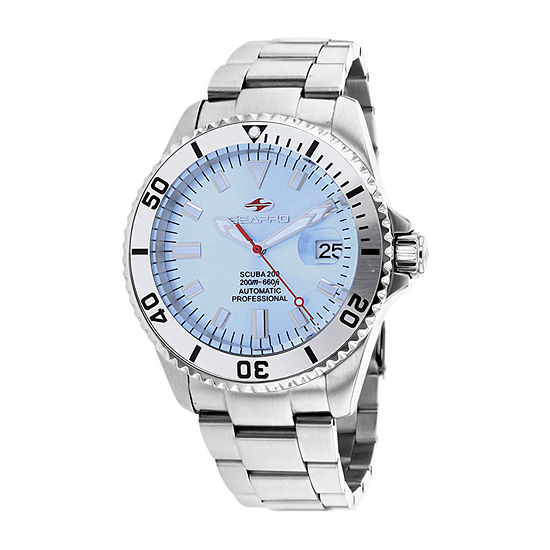 Sea-Pro Mens Automatic Silver Tone Stainless Steel Bracelet Watch - Sp4317