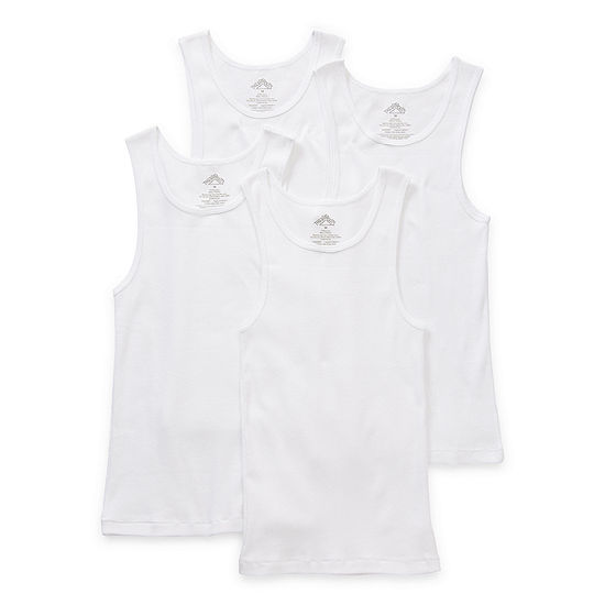 Thereabouts Little & Big Boys 4 Pack Crew Neck Tank