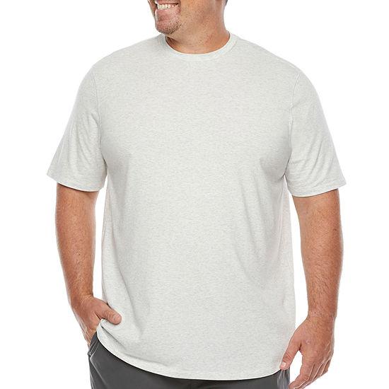 Stylus Big & Tall Mens Stretch Pima Cotton Crew Neck Short Sleeve T-Shirt