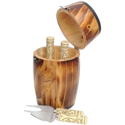 La Cote 4-pc. Cheese Knife Set in Mini Barrel