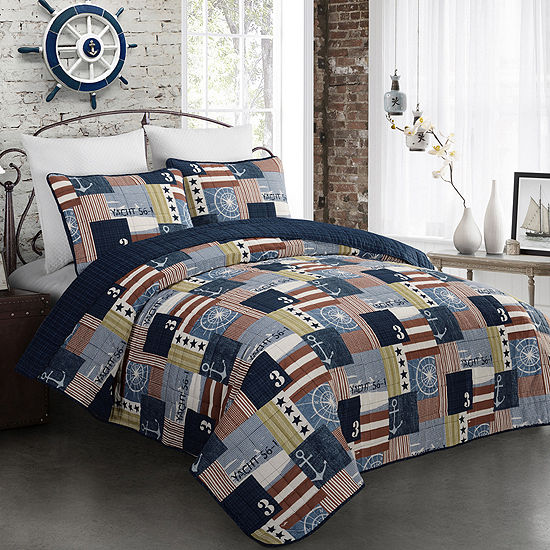 Fraser Nautical Flag Quilt Set