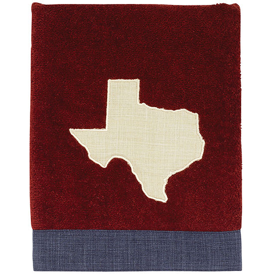 Avanti Texas Star Hand Towel Map