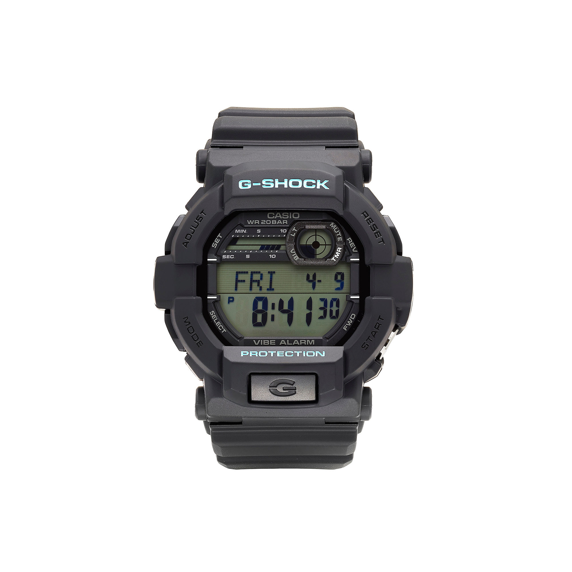 Casio G-Shock Mens Black and Blue Auto LED Strap Watch GD350-1C