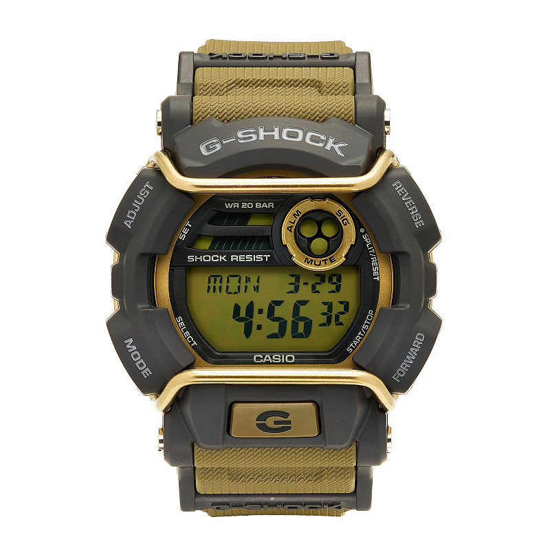 Casio G-Shock Mens Tan and Gray LED Strap Watch GD400-9