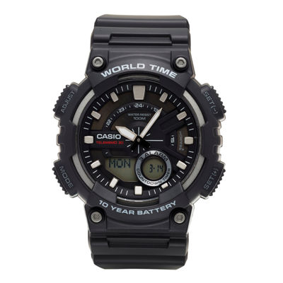 Casio® Mens Black 3D Dial Heavy Duty Strap Watch AEQ110W-1AV