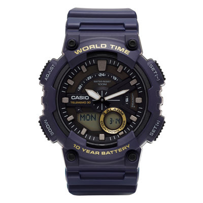 Casio® Mens Blue 3D Dial Heavy Duty Strap Watch AEQ110W-1AV