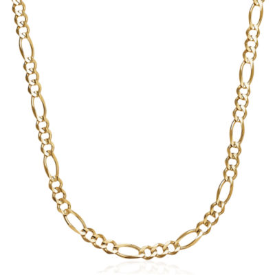 Made in Italy 14K Yellow Gold Solid 22 In Figaro Necklace