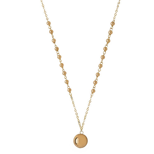 Infinite Gold™ 14K Yellow Gold Beaded Pendant Necklace