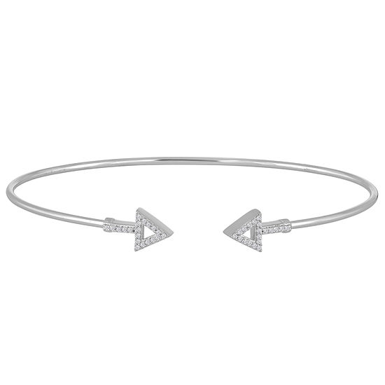 1/10 CT. T.W. Diamond Sterling Silver Bangle Bracelet
